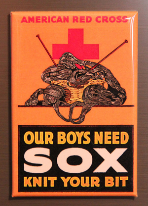 our boys need sox knit your bit magnet