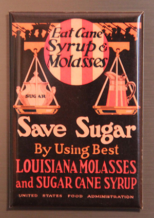 save sugar refrigerator magnet